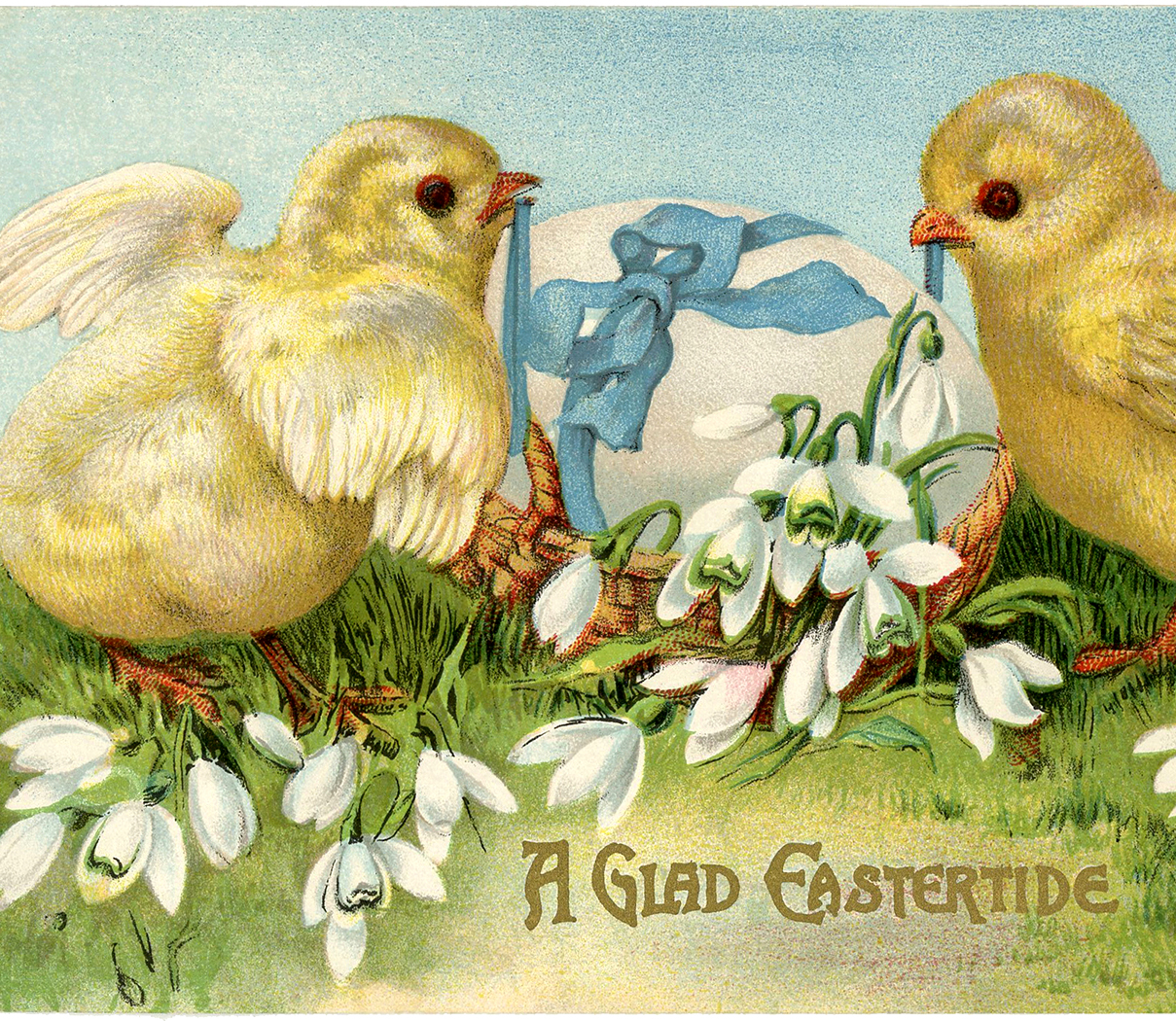 Vintage Easter Card Adorable Peeps The Graphics Fairy – Vintage Easter Cards