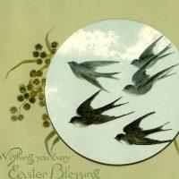 Vintage Flying Birds Image