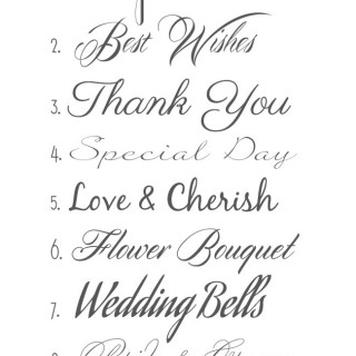 Favorite Script Wedding Fonts