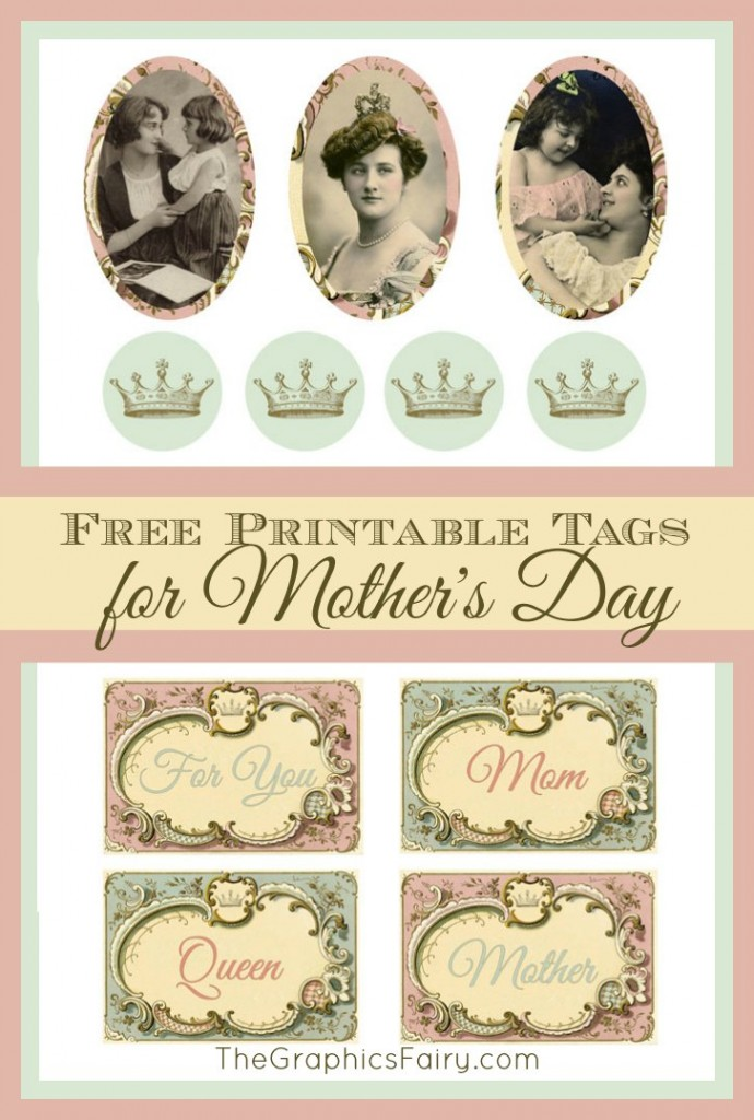 Free Printable Mother's Day Gift Tags // The Graphics Fairy