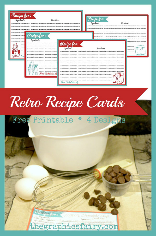 Retro recipe card printables the graphics fairy retro recipe card printables the graphics fairy forumfinder Choice Image