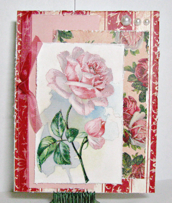 Vintage Rose Blank Card - Reader Featured Project