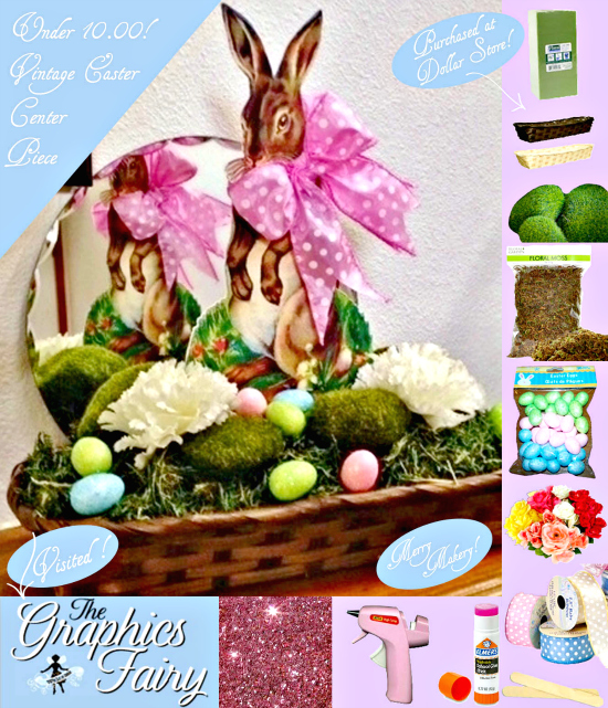 Vintage Easter Basket with Rabbit - Reader Featured Project