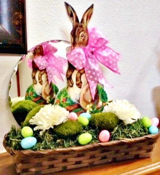Vintage Easter Basket with Rabbit - Reader Featured ...