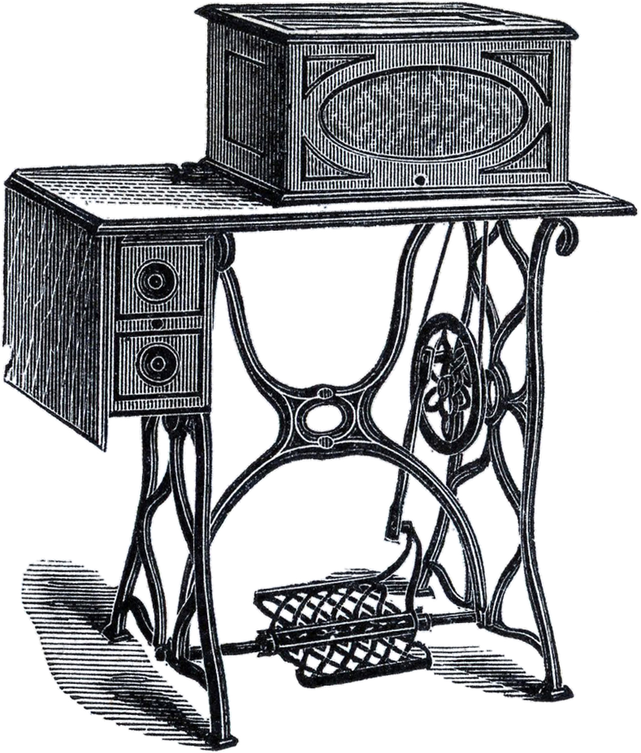 Fun Treadle Sewing Machine Picture
