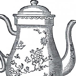 Free Vintage Teapot Clip Art