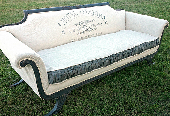 Gorgeous French Sofa Makeover - Reader Featured Project