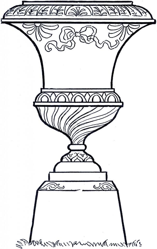Line Art Garden Urn