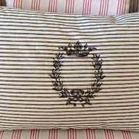 Homemade Ticking Pillow