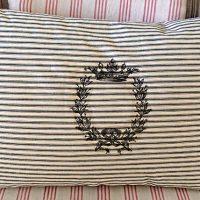 Homemade Ticking Pillow