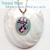 Painted Metal Mermaid Necklace Tutorial