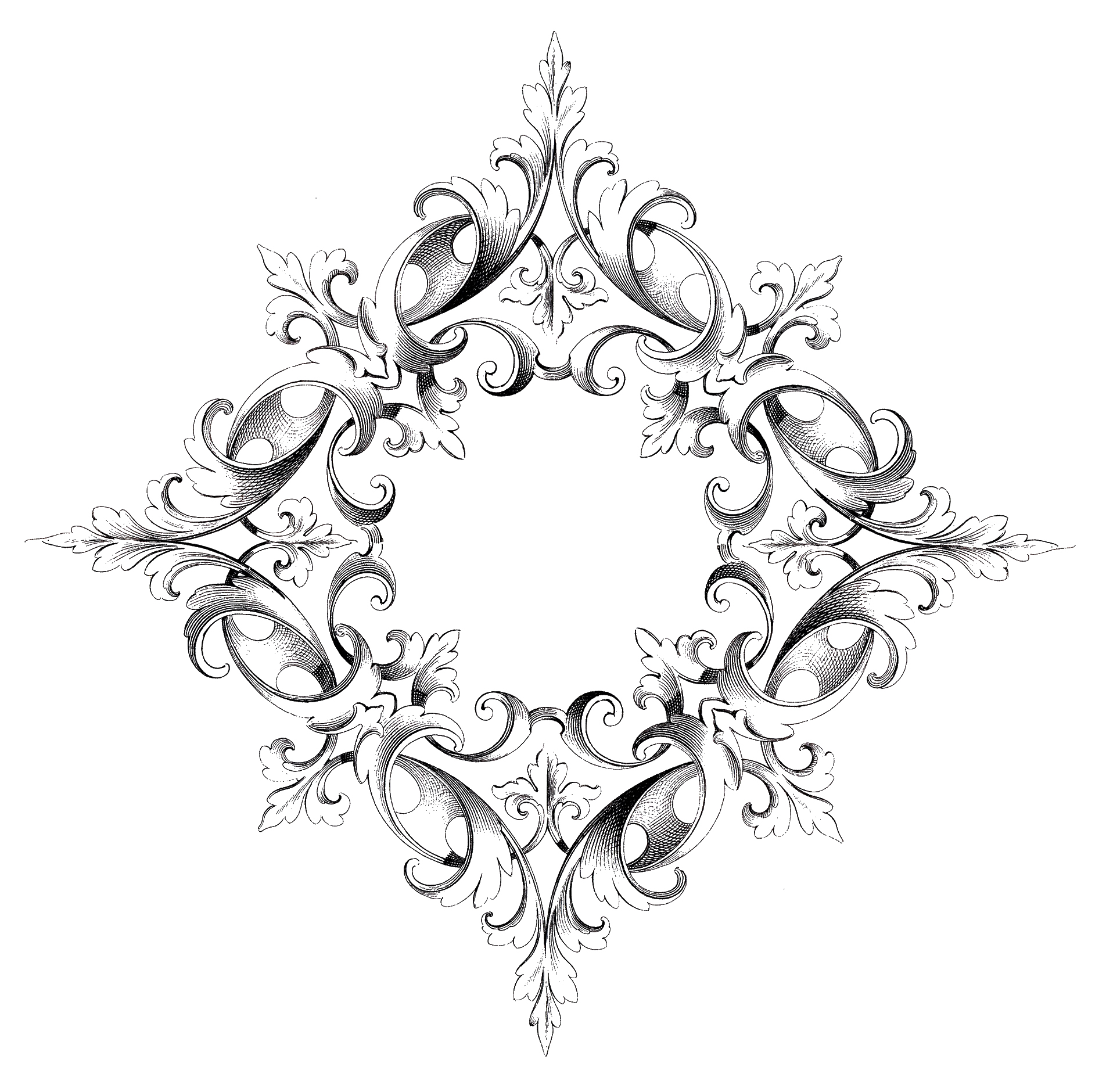 Spectacular Scroll Frame Image! - The Graphics Fairy