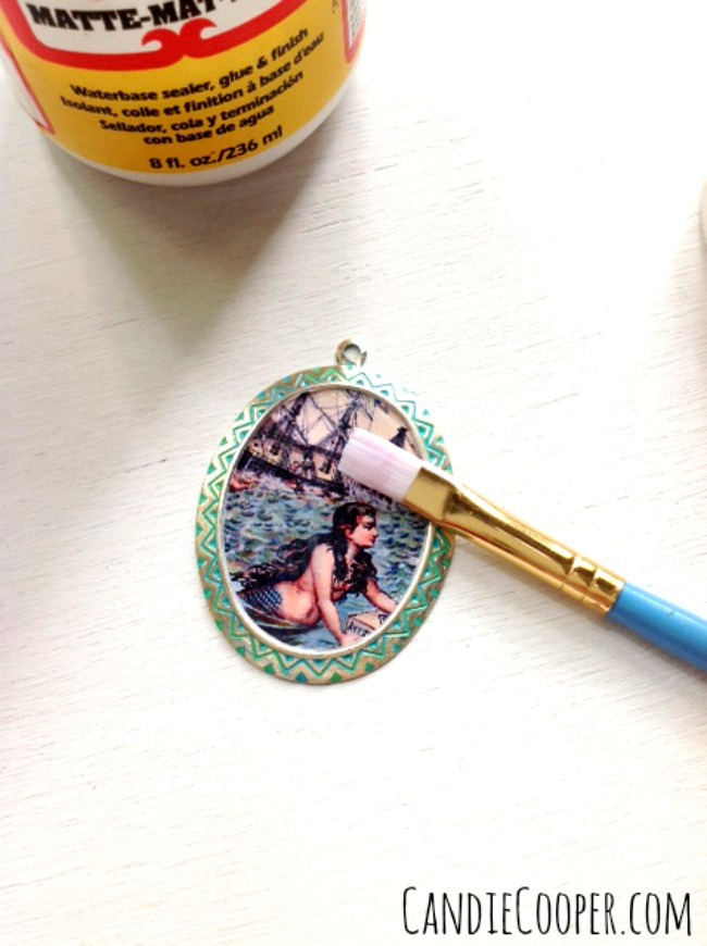 Seal paper with Mod Podge