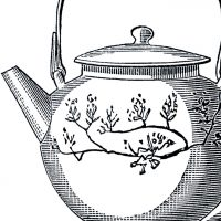 Vintage Asian Teapot Image