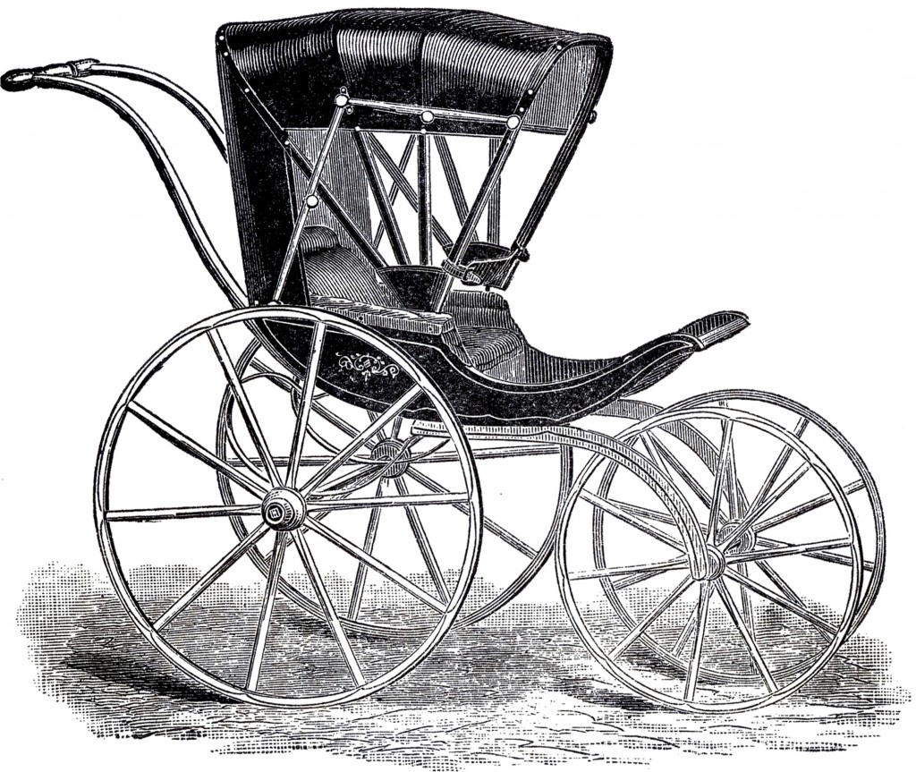 Vintage Boy Baby Carriage Image