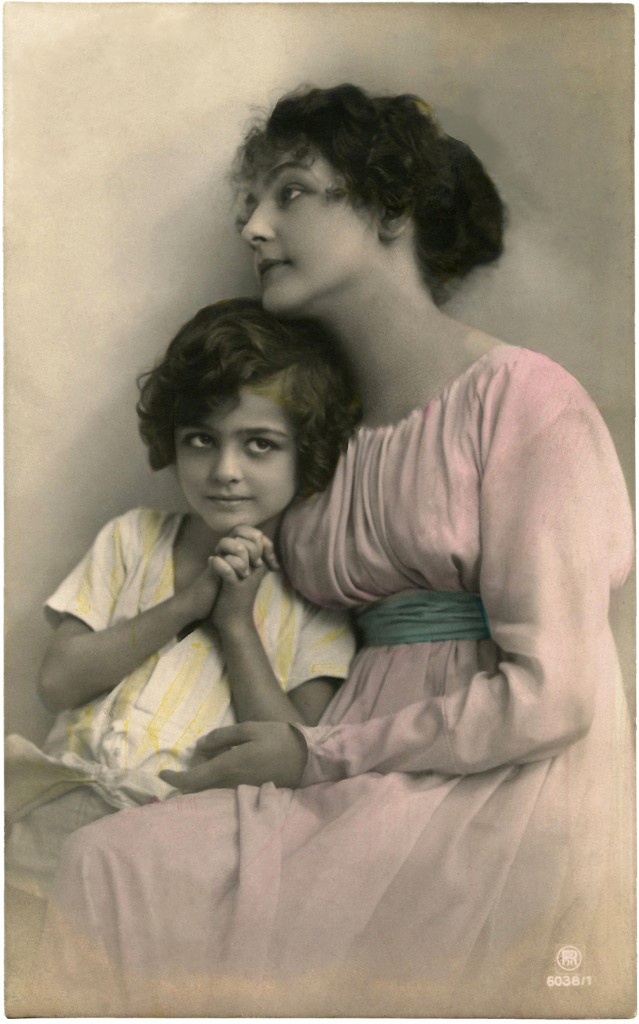 Vintage French Mother's Day Image