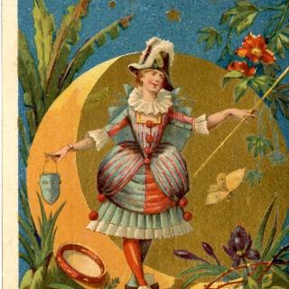 Vintage Masquerade Lady Image