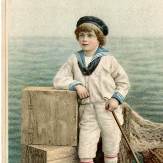 Beautiful Vintage Sailor Boy Image!