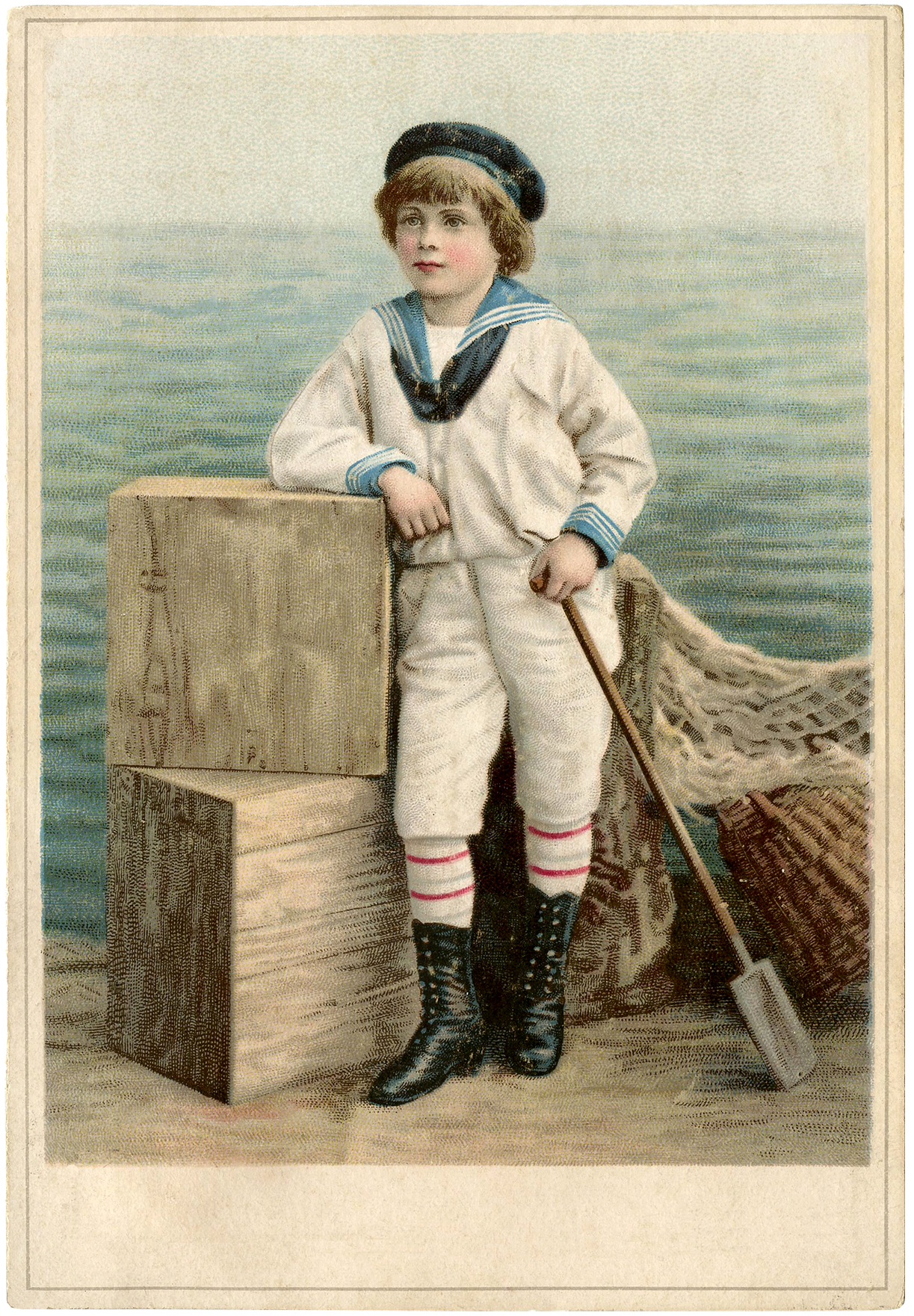 Beautiful Vintage Sailor Boy Image The Graphics Fairy