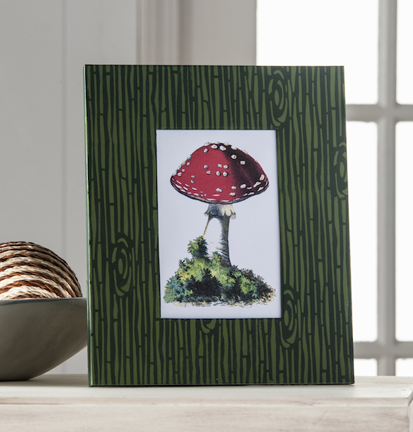 Red and White Mushroom Woodland Art