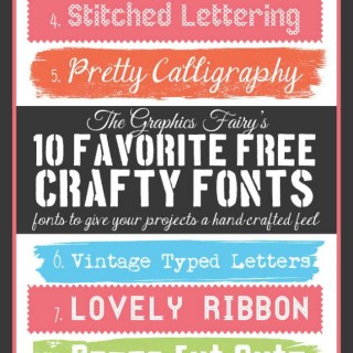 Favorite Free Crafty Fonts