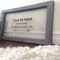 Beautiful French Painted Window