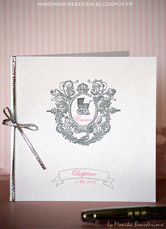 Handmade Christening Invitation and Menu - Reader Featured Project