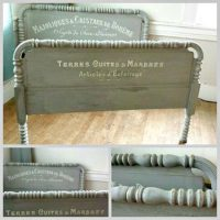 Beautiful French Painted Bed