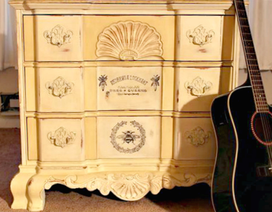 Chalk Painted Bee Dresser - Reader Featured Project