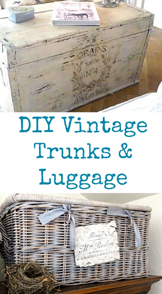 DIY Vintage Trunks and Luggage