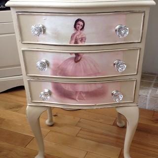Decoupaged Ballerina Dresser