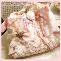 Handmade Lace Collaged Handbag