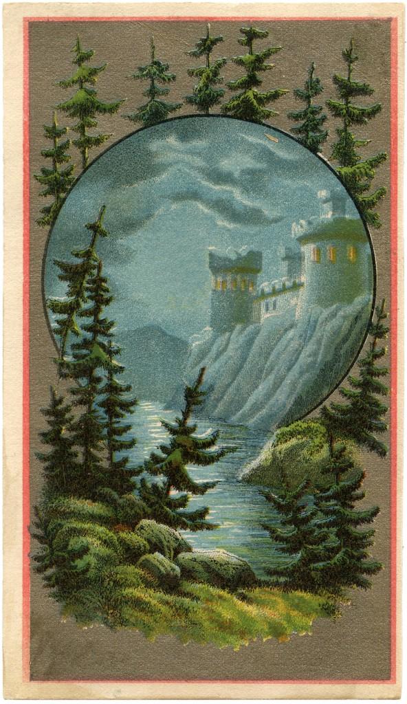 Vintage Mysterious Castle Image
