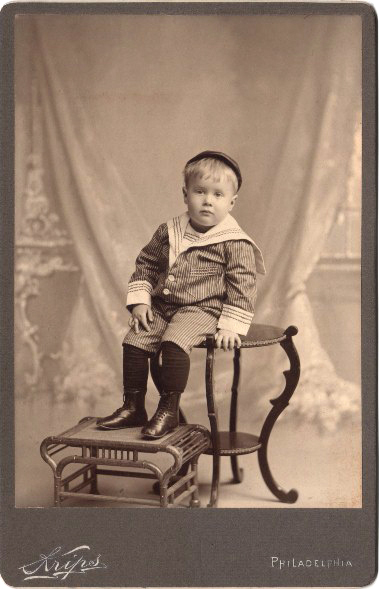 Old Photo Sailor Suit Boy