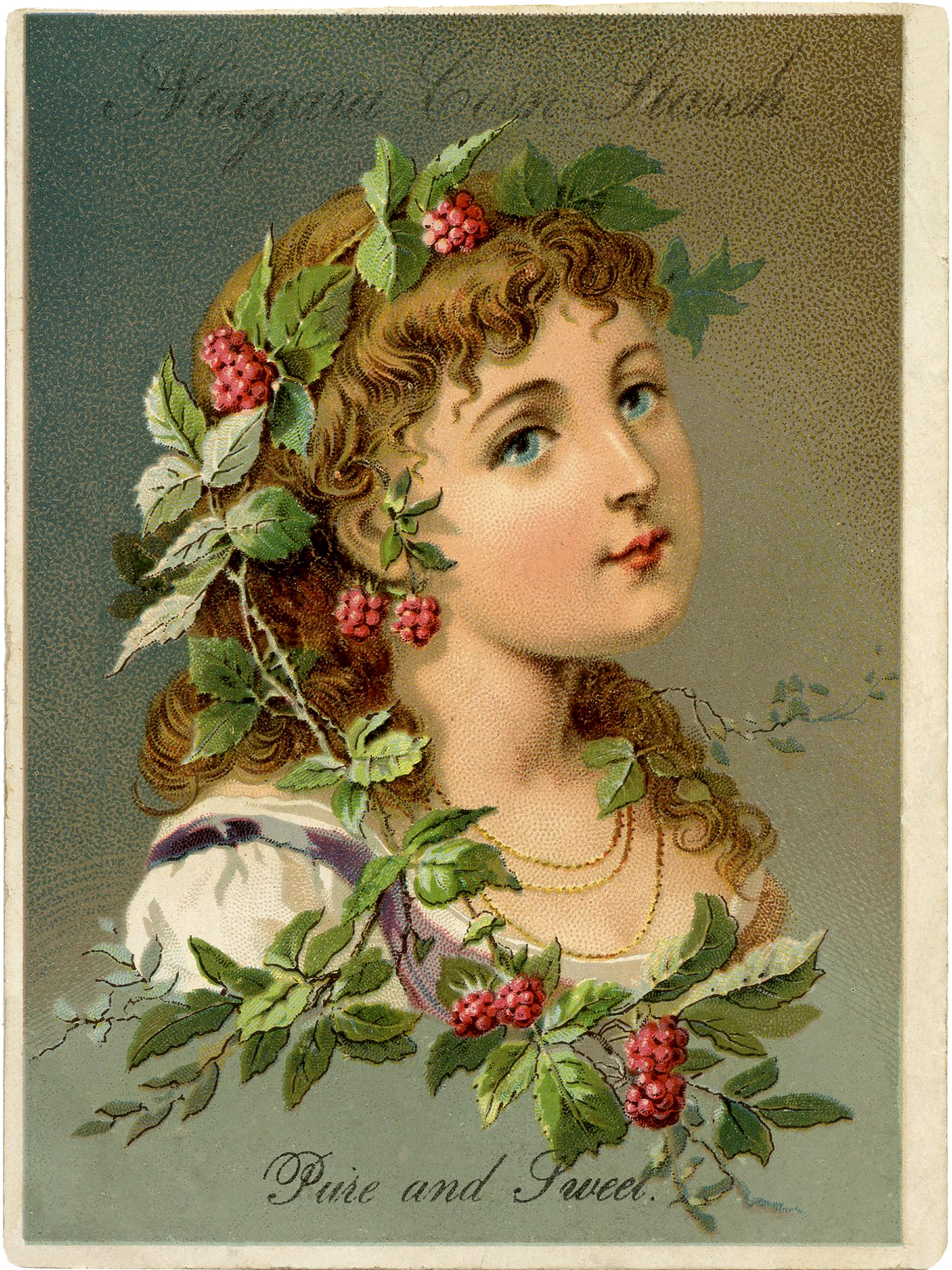 Lovely victorian raspberry girl download the graphics fairy