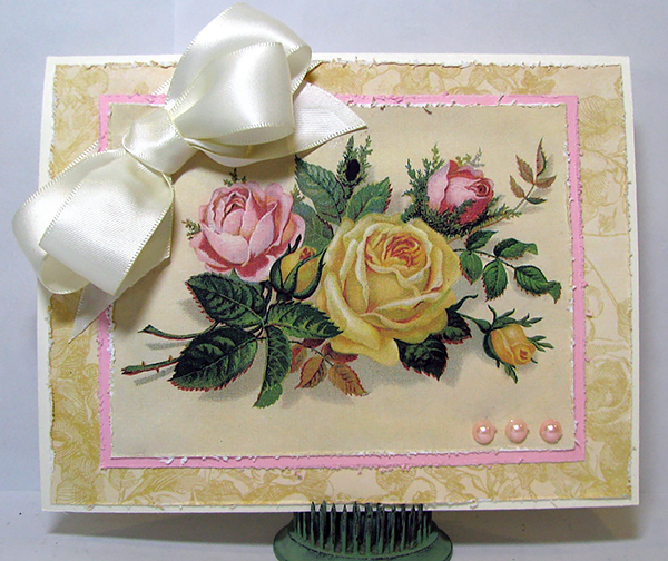 Homemade Card with Roses - Reader Featured Project