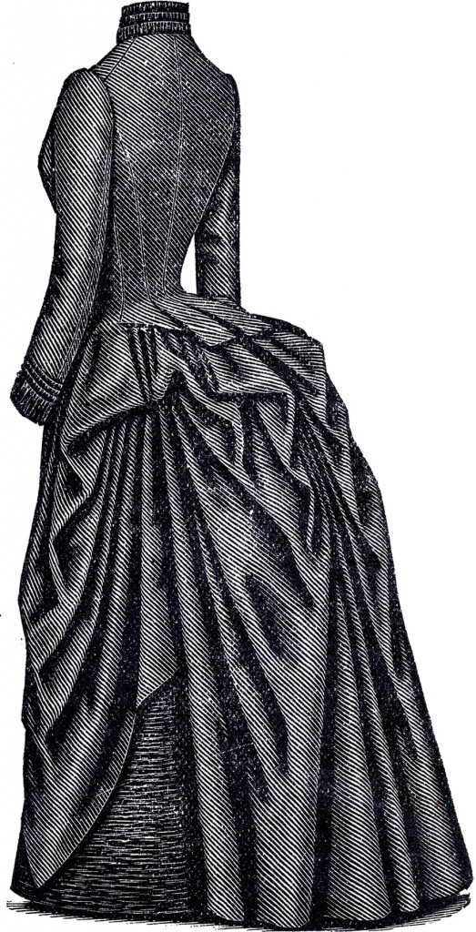 Victorian Bustle Dress Back