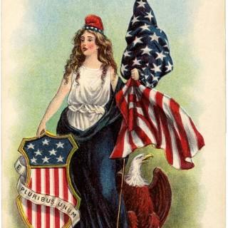 Vintage Lady Liberty Clip Art