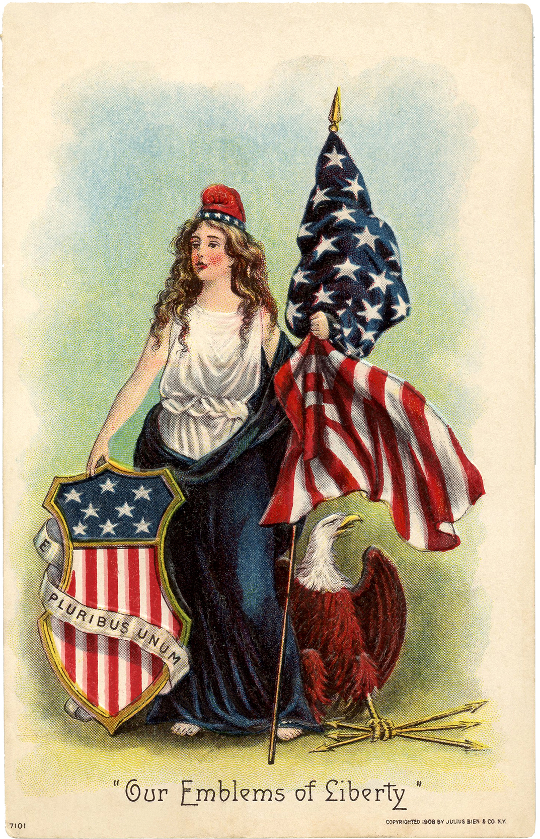 Vintage lady liberty clip art the graphics fairy for Classic american images