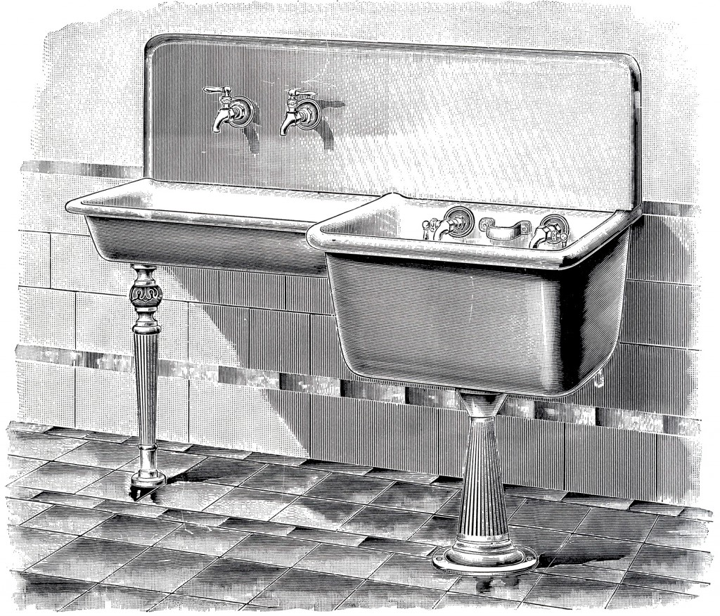 Awesome Vintage Laundry Sink Image The Graphics Fairy