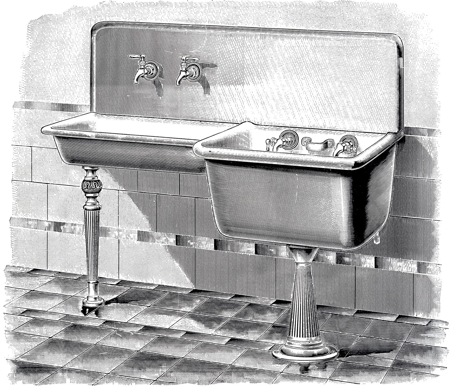 Vintage Laundry Sink Image