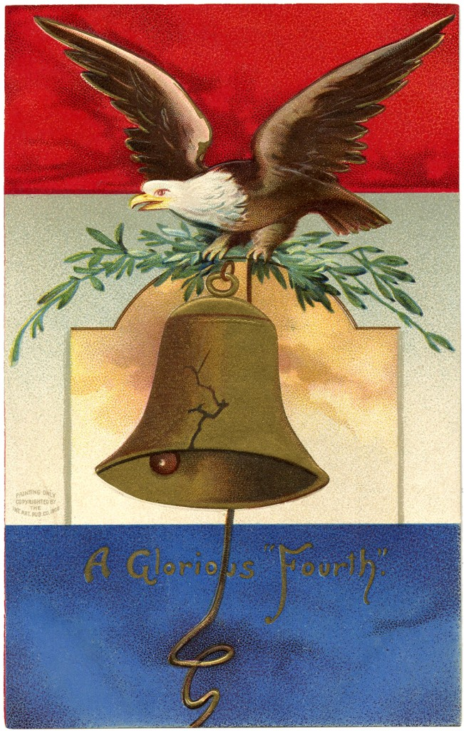 Vintage Patriotic Bald Eagle Image