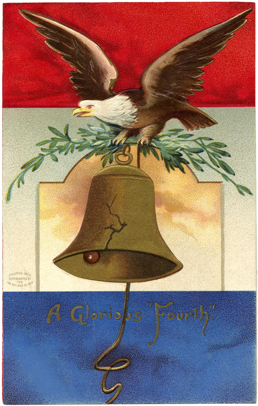The Graphics Fairy: Vintage Patriotic Eagle Image