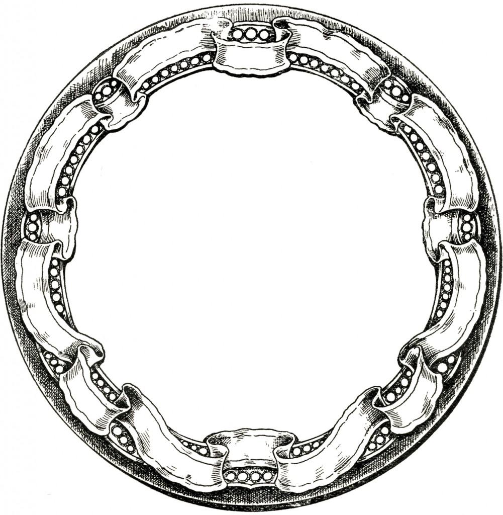 Vintage Round Graphic Frame