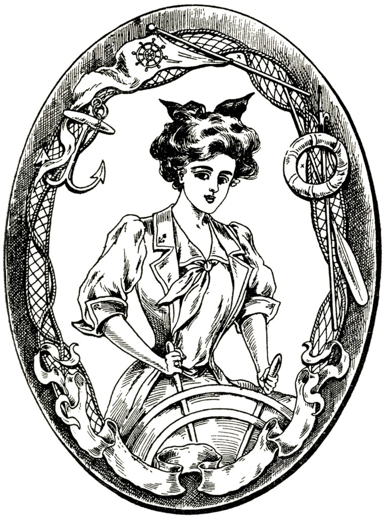 Vintage Sailor Lady Image