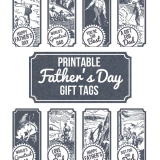 Free Printable Father's Day Gift Tags!