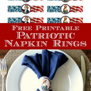 Free Printable Patriotic Napkin Rings