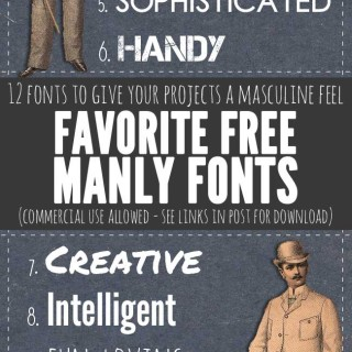 Manly Fonts – Free Commercial Use