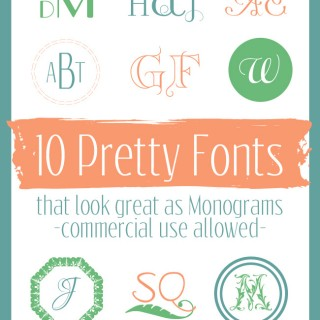 10 Commercial Free Monogram Fonts