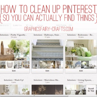 Organize your DIY & Craft Pinterest boards {so you can actually find things}